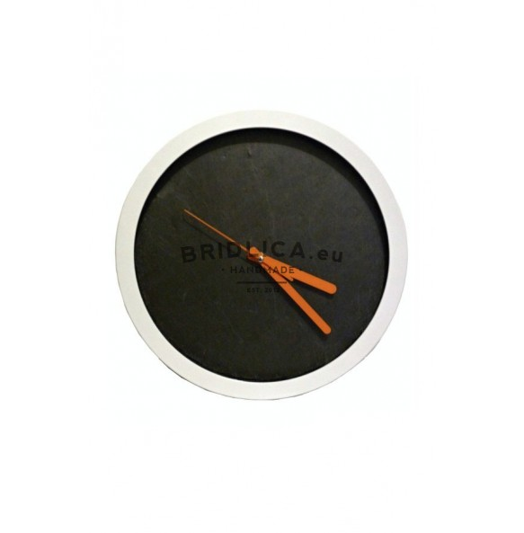 Slate Wall Clock 30x30x4 cm type X. - Wall Clock