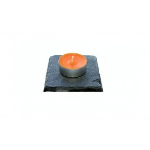 Slate Mat For Tea Candle Or Standard Candle 1 piece, 10x10 cm