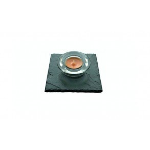 Slate Mat For Candlestick I., 1 piece 10x10 cm, 11x11 cm, 12x12 cm