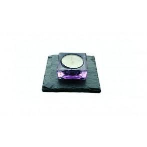 Slate Mat For Candlestick II. 1 piece, 10x10 cm, 11x11 cm, 12x12 cm