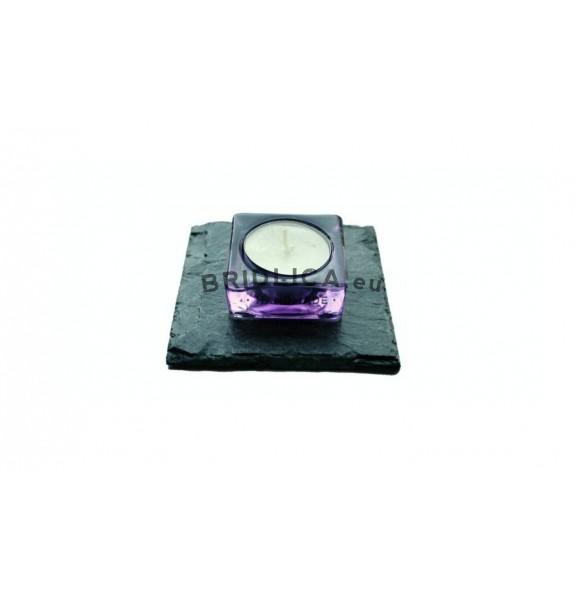Podložka z bridlice na svietnik II. 1ks, 10x10 cm, 11x11 cm, 12x12 cm - Bytové doplnky