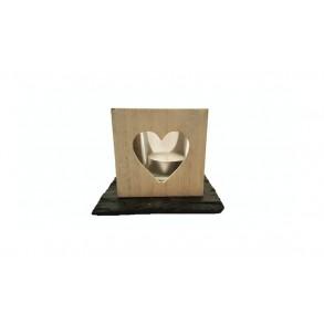 Podložka z bridlice na drevený svietnik, 1ks, 11,5x11,5 cm