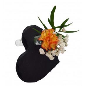 Slate mini vase - heart 10x10 cm