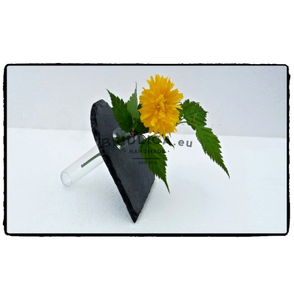 Slate mini vase - heart 10x10 cm - Home Accessories