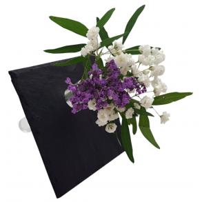 Mini váza z břidlice - čtvercová 10x10 cm