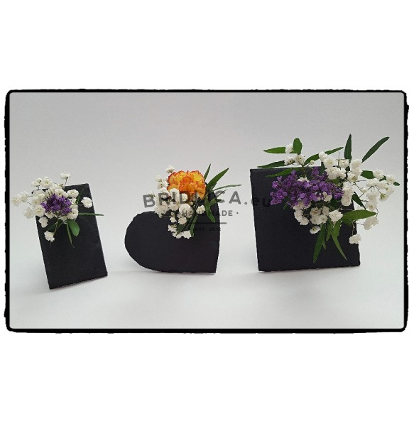 Slate mini vase - square 10x10 cm - Home Accessories
