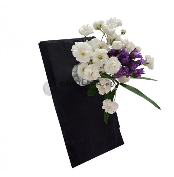 Mini váza z břidlice - vizitka 9x5 cm - Bytové doplňky