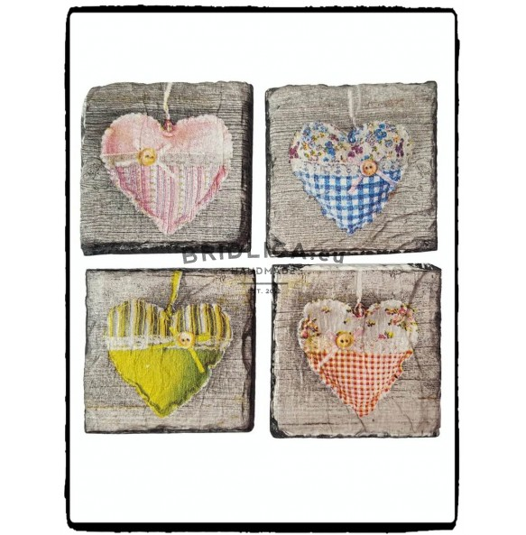 Slate Magnet - decoupage 5x5 cm type I. - Gifts