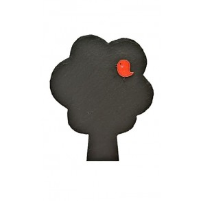 Břidlicový strom s ptáčkem 13x16 cm