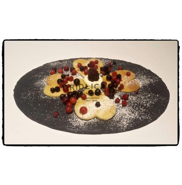 Oval Slate Serving Plate 27,5x19,5 cm type A. - Plates