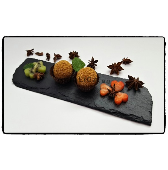 Slate Serving Plate With Rounded Edges 26x7 cm - Plates