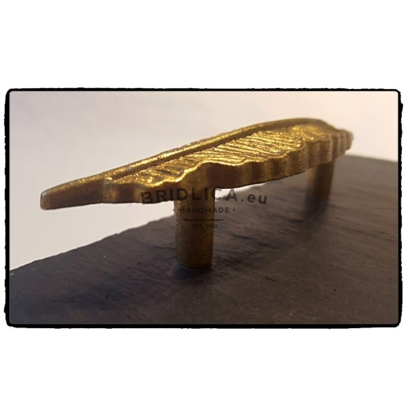 Rectangle Slate Platter With Gilt Steel Handle 35x25 cm, 50x30 cm - Platters