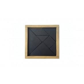 Hlavolam TANGRAM z bridlice 13,5x13,5 cm