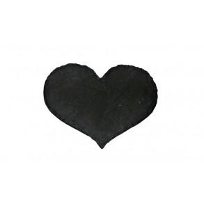 Srdce z bridlice, guľaté, 15x20 cm