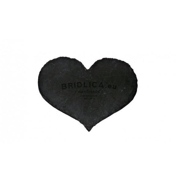 Slate Heart, Round 15x20 cm - Blank Hearts