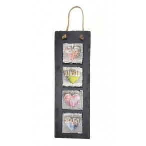 Hanging slate decoration 10x30 cm