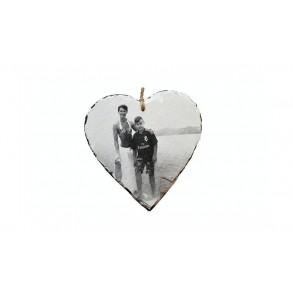 Fotografie na břidlici - srdce 1 ks, 12x12 cm, 14x14 cm