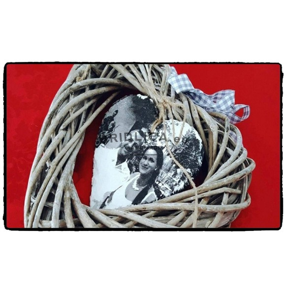 Photo on slate - Whipped Heart 1 piece, 12x12 cm, 14x14 cm - Photo on Slate