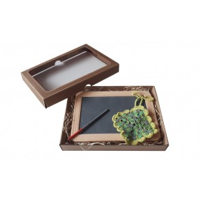 "Set ""Slate Writing Board, Slate pencil, Cotton Towel"" 27x20 cm"