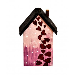 "House ""HEARTS"" With Slate Roof 11,5x6 cm"