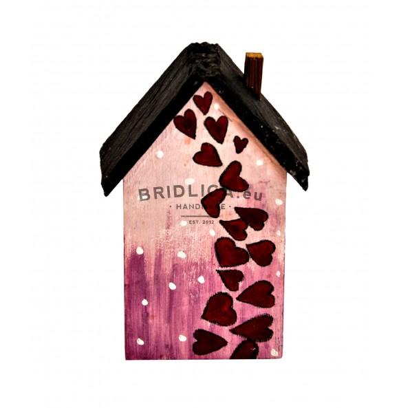 """Domeček """"Srdíčka"""" s břidlicovou střechou 11,5x6 cm - Různé"""