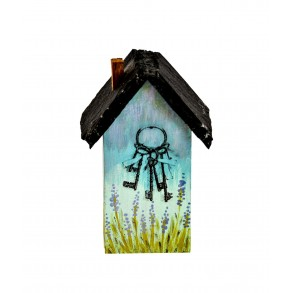 "House ""KEYS"" With Slate Roof 10,5x4,5 cm"
