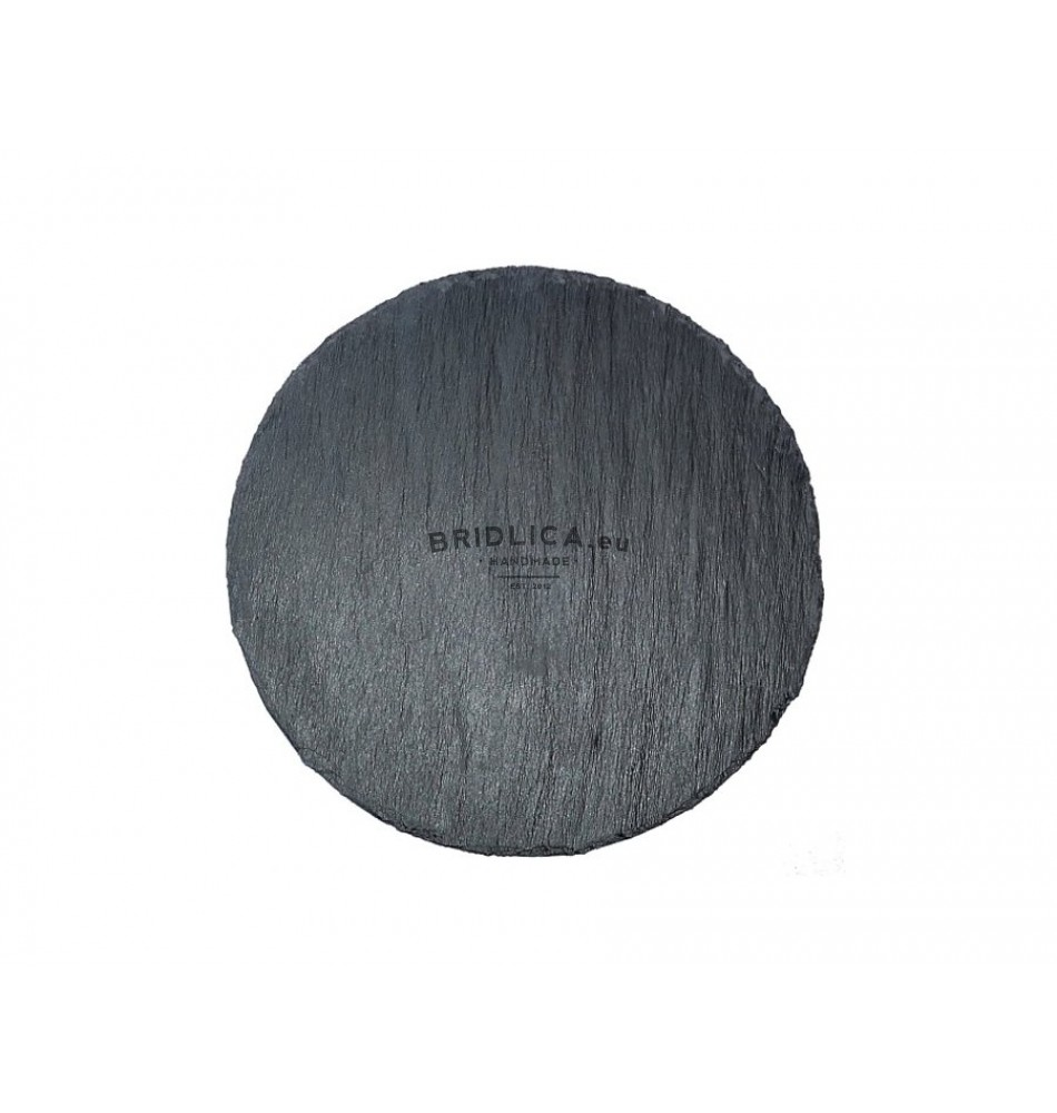 6e81b9b14810 Rounded Slate Serving Plate Ø 19 cm type A.
