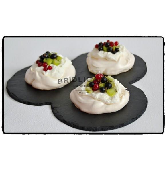"Slate Servin Plate ""THREE CIRCLES"" Ø 29,5 cm - Plates"