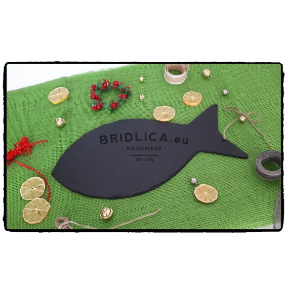 "Slate Serving Plate ""FISH"" 39x20 cm - NEW PRODUCTS"