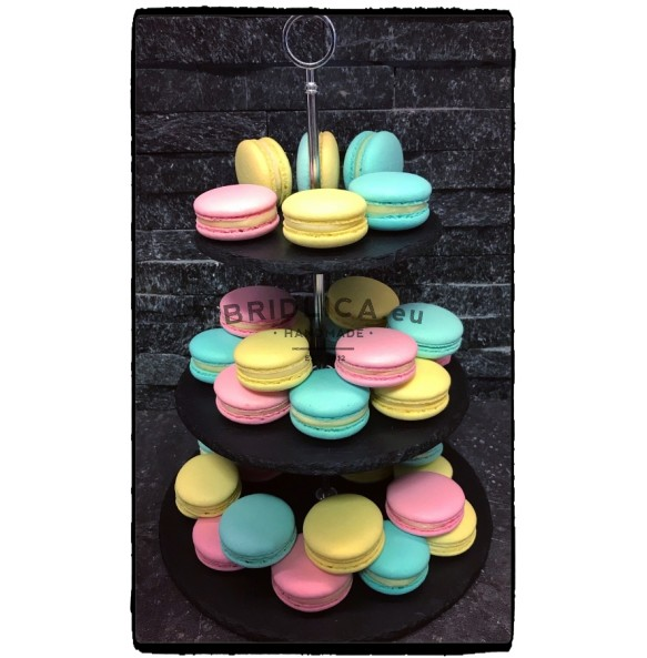 3 - Tier Rounded Slate Cake Stand 25x25x35 cm - NEW PRODUCTS