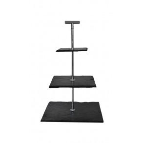 3 - Tier Square Slate Cake Stand 25x25x35 cm