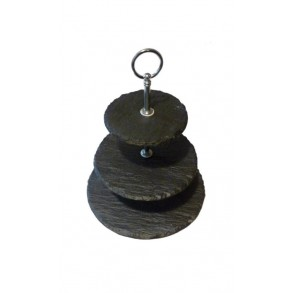 3 - Tier Rounded Slate Cake Stand EXTRA MINI 18x18x23 cm