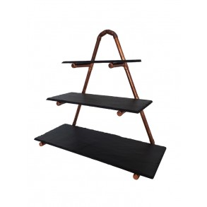 3 - Tier Slate Cake Stand INDUSTRIAL 40x17x36 cm