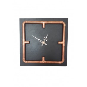 Slate Wall Clock INDUSTRIAL 24x24 cm type A.