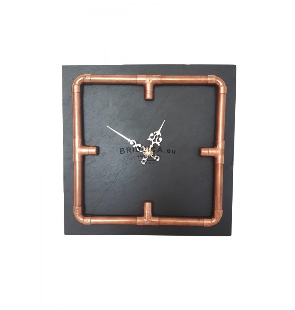 Slate Wall Clock INDUSTRIAL 24x24 cm type A. 716c9d3e8b6