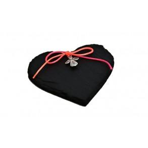 Magnetka z břidlice - srdce zdobené 7x7 cm