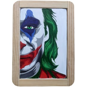 "Painting on the slate writing school board ""JOKER"" I."