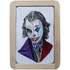 "Painting on the slate writing school board ""JOKER"" II."