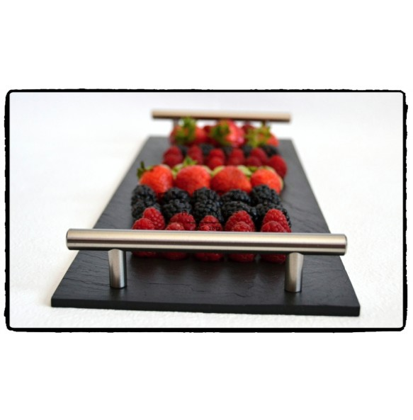 Rectangle Slate Platter EXCLUSIVE Chrome 44x16 cm type B. - Platters