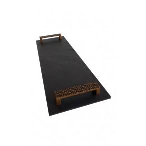 Podnos obdĺžnikový z bridlice EXCLUSIVE staré zlato 44x16 cm typ A.