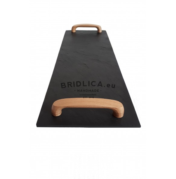 Rectangle Slate Platter EXCLUSIVE wood beech 44x16 cm type B. - NEW PRODUCTS