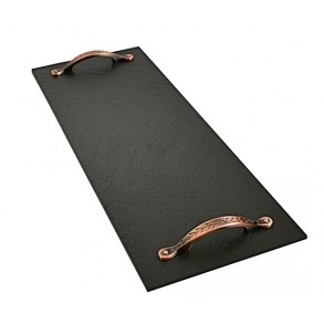 Rectangle Slate Platter EXCLUSIVE copper 44x16 cm