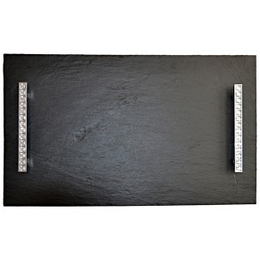 Rectangle Slate Platter EXCLUSIVE CRYSTAL 50x30 cm