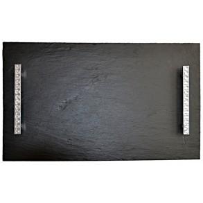 Podnos obdĺžnikový z bridlice EXCLUSIVE CRYSTAL 50x30 cm