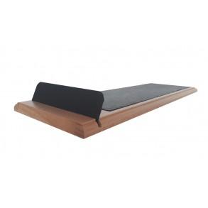 Podnos z bukového dřeva s břidlicovou deskou 48x16 cm typ B.
