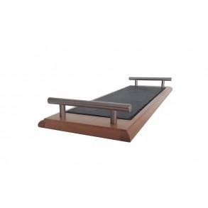 Podnos z bukového dřeva s břidlicovou deskou s kovovými držadly 50x16 cm typ A.