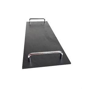 Rectangle Slate Platter EXCLUSIVE Chrome 41,5x14 cm type D.