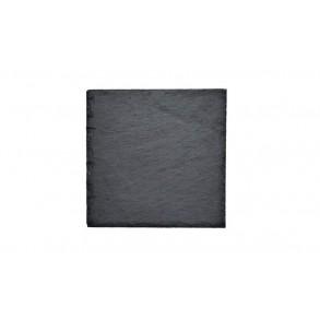 Slate Saucer, square, 1 piece, 8x8 cm, 11x11 cm