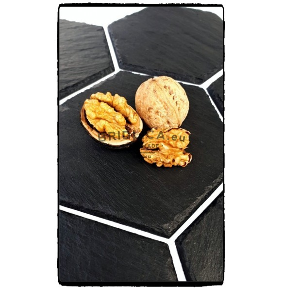 Podšálka z bridlice, HEXAGON 1ks, 11x11 cm - Doplnky do kuchyne a jedálne