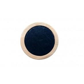 Podšálek z bukového dřeva s kruhovou břidlicovou deskou 1ks,  Ø 14 cm